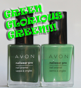 avon jade olive green nail polish bottles Avon Knows The Way To This Girls Heart   New Nailwear Pro Greens!