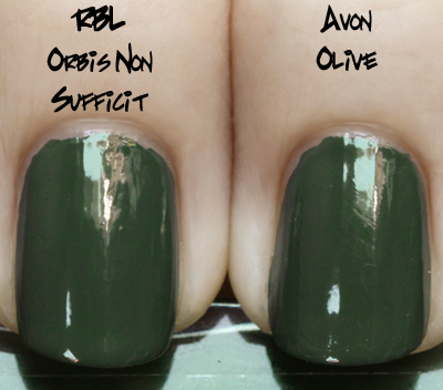 avon olive green comparison rbl orbis Avon Knows The Way To This Girls Heart   New Nailwear Pro Greens!