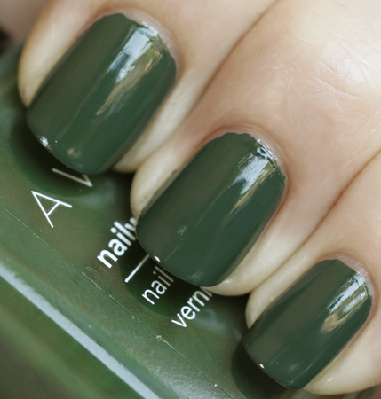 Avon Nailwear Pro Olive Green Nail Polish Swatch