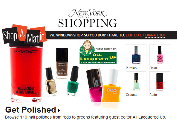 ny mag shop a matic New York Magazines Nail Polish Shop A Matic Featuring ALUs Summer Faves