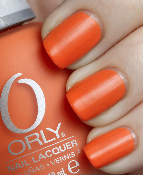 Orly Old School Orange Nail Polish Swatch