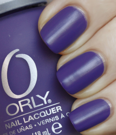 Orly Purple Pleather Satin Nail Polish