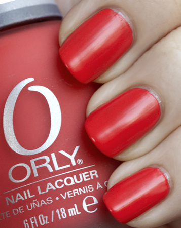 Orly Retro Red Nail Polish Swatch