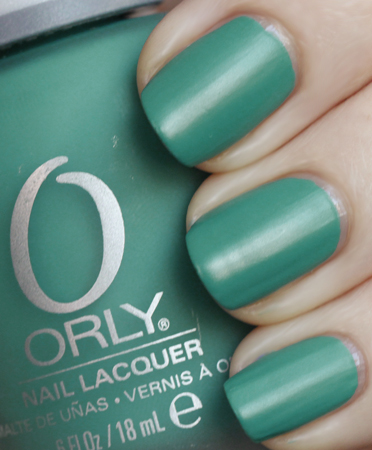 Orly Viridian Vinyl Satin Nail Polish Swatch from the Orly Plastix Collection