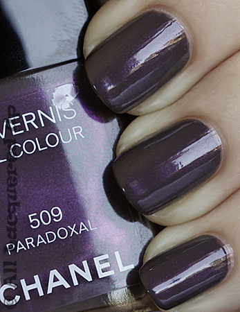 chanel paradoxal nail polish swatch fall 2010 Chanel Paradoxal Swatch, Review & Comparison