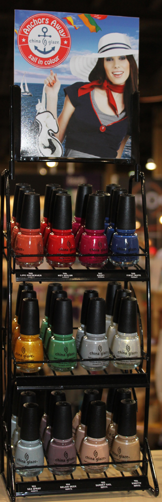 china glaze anchors away rack Cosmoprof 2010 Day 1 Recap