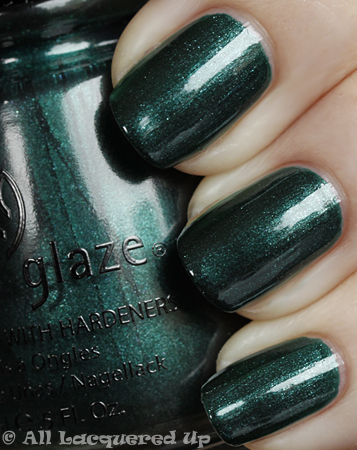 china glaze emerald fitzgerald swatch vintage vixen cats meow China Glaze Vintage Vixen Cats Meow Swatches & Review