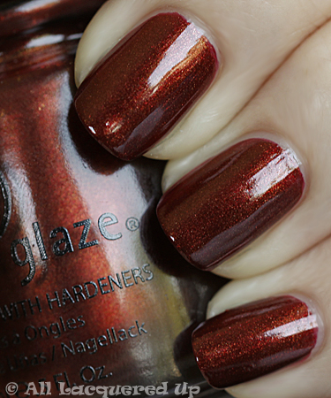 china glaze foxy swatch vintage vixen fall 2010 China Glaze Vintage Vixen Hotsy Totsy Swatches & Review