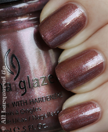 china glaze hey doll swatch vintage vixen China Glaze Vintage Vixen Hotsy Totsy Swatches & Review