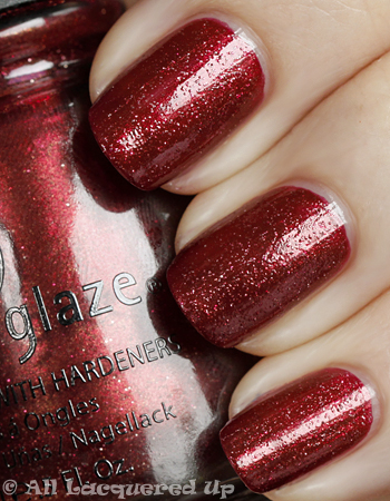 china glaze riveter rouge swatch vintage vixen fall 2010 China Glaze Vintage Vixen Cats Meow Swatches & Review