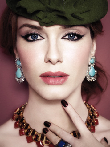 christina hendricks china glaze stella la times magazine Get The Nail Look   Christina Hendricks in LA Times Magazine