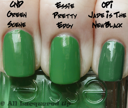 essie pretty edgy comparison Essie Summer 2010 Swatches & Review