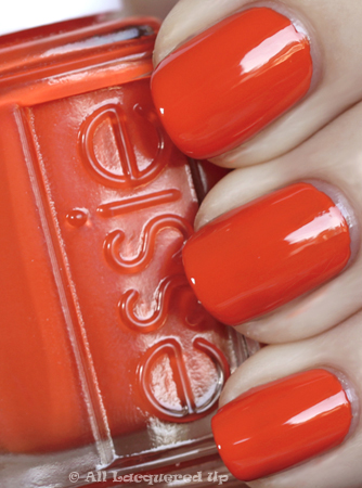 essie vermillionaire nail polish swatch Essie Summer 2010 Swatches & Review