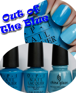 gradation manicure ombre effect blue multi colored nails Out Of The Blue   A Multi Colored Ombre Manicure