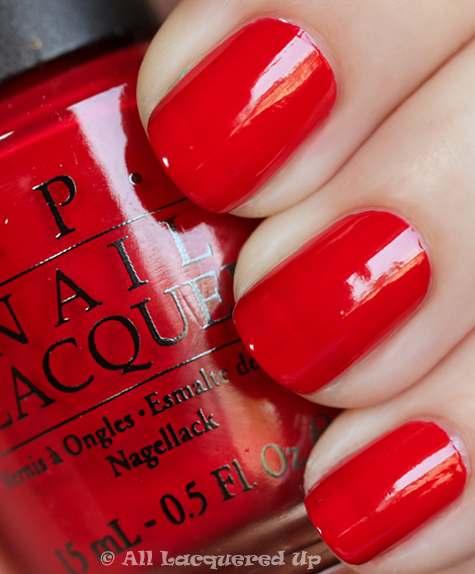 opi color so hot it berns swatch from the opi swiss collection for fall 2010