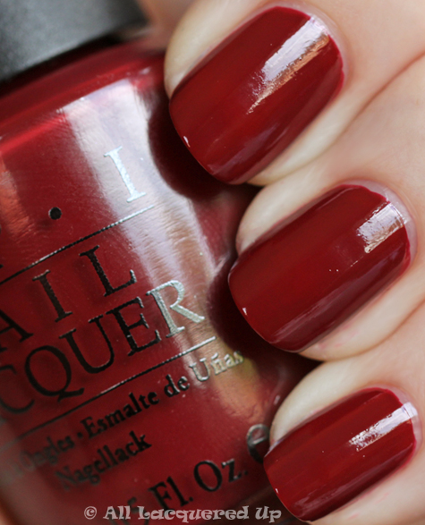 opi im suzi and im a chocoholic swatch from the opi swiss collection for fall 2010