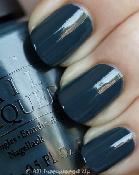 opi ski teal we drop swatch from the opi swiss collection for fall 2010