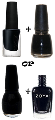 black layering anna paquin cnd china glaze sinful zoya Anna Paquins Mysterious Black Nails at the 62nd Annual Emmy Awards
