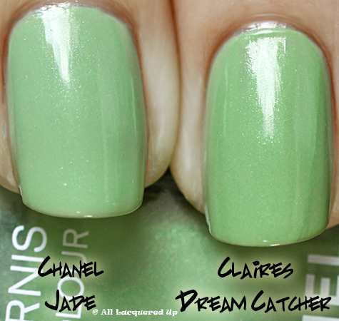 chanel jade claires dream catcher comparison swatch Chanel Jade & Paradoxal Dupe Smackdown