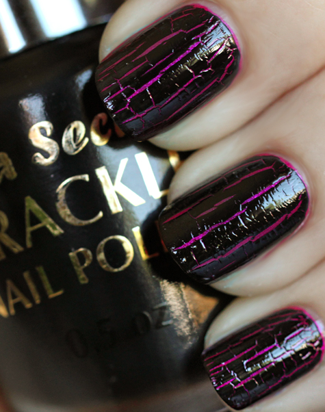 crackle nail polish mia secret black All Cracked Up with Crackle Nail Polish