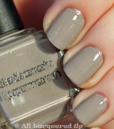 lady gaga's gray nail polish deborah lippmann waking up in vegas from september issue of vanity fair