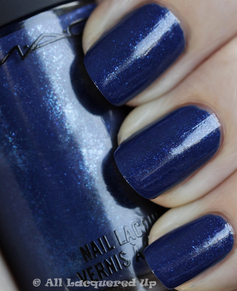 mac ming blue swatch nail trend fw 2010 MAC Nail Trend F/W 2010 Swatches & Review