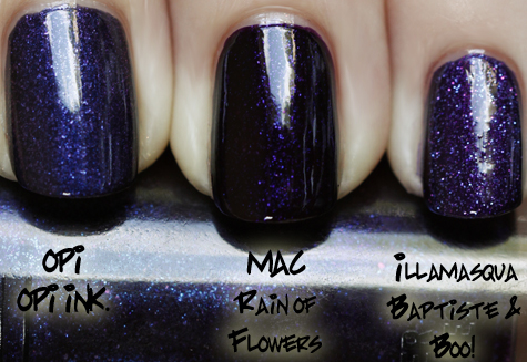 mac rain of flowers swatch comparison MAC Nail Trend F/W 10 Comparisons