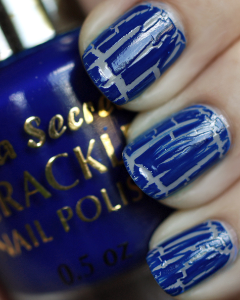 mia secret crackle nail polish blue swatch All Cracked Up with Crackle Nail Polish