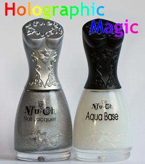 nfu oh 61 aqua base nail polish bottles Best Holo Ever   Nfu Oh 61 Can Take On Minx Hologram Nails