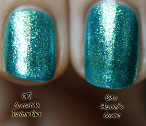 orly halleys comet comparison opi catch net zoya charla Orly Cosmic FX Fall 2010 Collection Swatches & Review