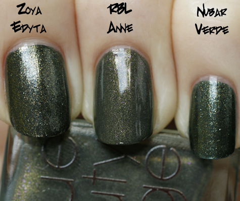 rbl anne compared with zoya edyta and nubar verde