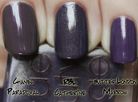 rbl catherine chanel paradoxal butter london marrow Rescue Beauty Lounge Fall 2010 Comparisons