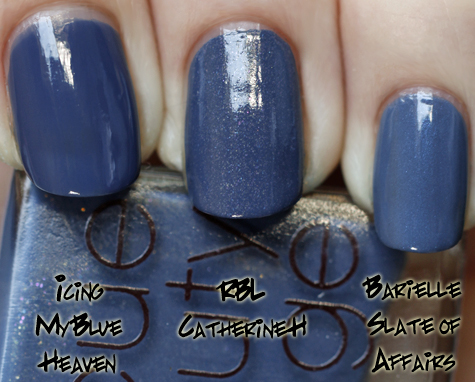 rbl catherine h compared with barielle slate of affairs and icing blue heaven