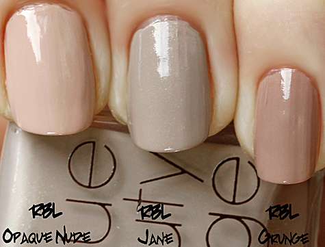 rbl jane compared with rbl opaque nude and rescue beauty lounge grunge