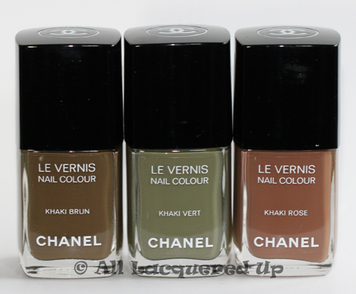 chanel les khakis de chanel bottles Chanel Les Khakis De Chanel Nail Polishes for Fashions Night Out