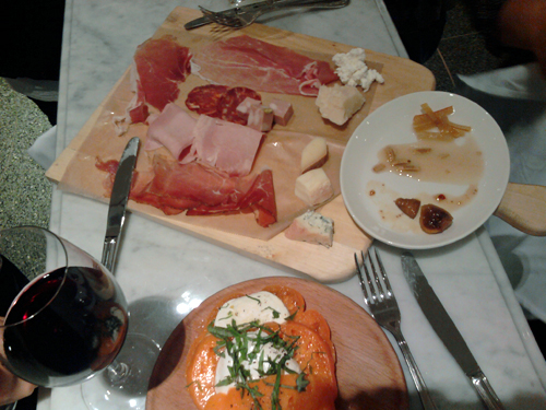 eataly nyc meat cheese board caprese 1 Random NYFW SS 2011 Moments