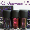 MAC Venomous Villains Bad Fairy, Formidable and Mean & Green Swatches, Review & Comparisons