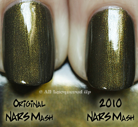 nars mash comparison swatch NARS Vintage Nail Polish Collection 2010 Swatches, Review & Comparisons