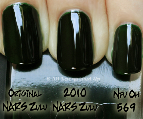 nars zulu comparison swatch nfu oh 569 NARS Vintage Nail Polish Collection 2010 Swatches, Review & Comparisons