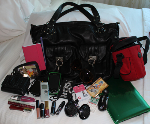 nyfw bag essentials NYFW SS11   Whats In That Bag? My Backstage Essentials