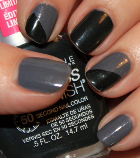 nyfw-notd-challenge-maybelline-gray-t-glamour-grand-green