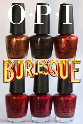 opi burlesque holiday 2010 OPI Burlesque Collection for Holiday 2010 Swatches, Review & Comparisons