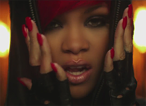 rihanna love the way you lie nail color red nails Get The Nail Look   Rihanna in the I Love The Way You Lie Video