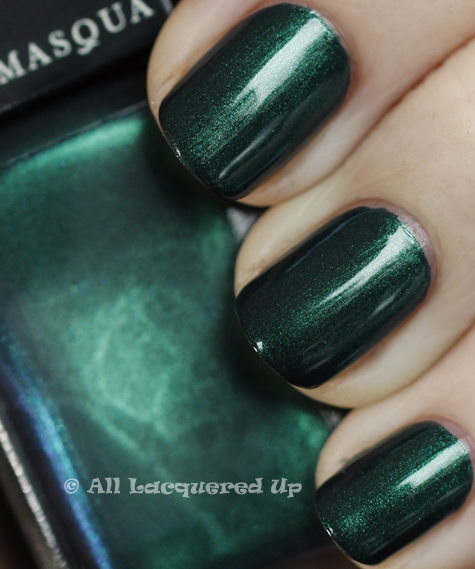 illamasqua viridian swatch art of darkness fall 2010 Illamasqua Scarab & Viridian from the Art of Darkness Collection