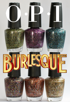 opi burlesque holiday 2010 glitter nail polish OPI Holiday 2010 Burlesque Collection Glitter Swatches & Review
