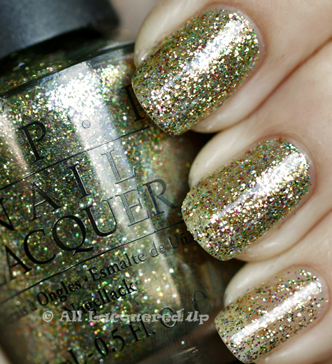 opi glow up already swatch burlesque holiday 2010 glitter OPI Holiday 2010 Burlesque Collection Glitter Swatches & Review