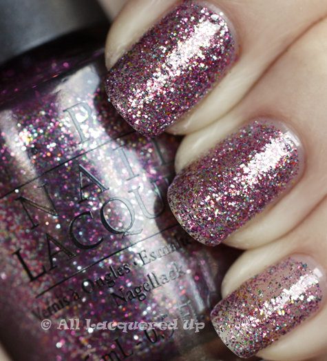 opi show it glow it swatch burlesque holiday 2010 glitter OPI Holiday 2010 Burlesque Collection Glitter Swatches & Review