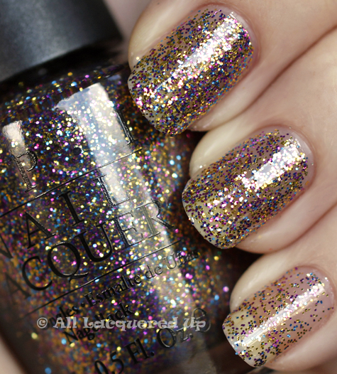 opi sparkle iscious swatch burlesque holiday 2010 glitter OPI Holiday 2010 Burlesque Collection Glitter Swatches & Review