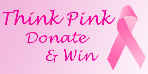 think pink donate and win badge Think Pink   Donate & Win Giveaway 2010 Donation Update & Winners