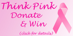 think pink donate win badge click Comments For A Cure 2010 Starts TODAY